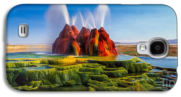 Fly Geyser Panorama Galaxy S4 Case by Inge Johnsson