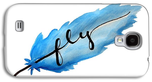 Fly Watercolor Feather Horizontal Galaxy S4 Case by Michelle Eshleman