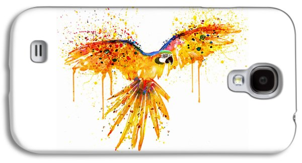 Flying Parrot Watercolor Galaxy S4 Case by Marian Voicu