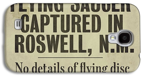 Flying Saucer Roswell Newspaper Galaxy S4 Case by Mindy Sommers