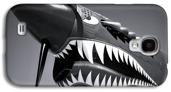 Flying Tiger Plane Black And White Galaxy S4 Case by Garry Gay