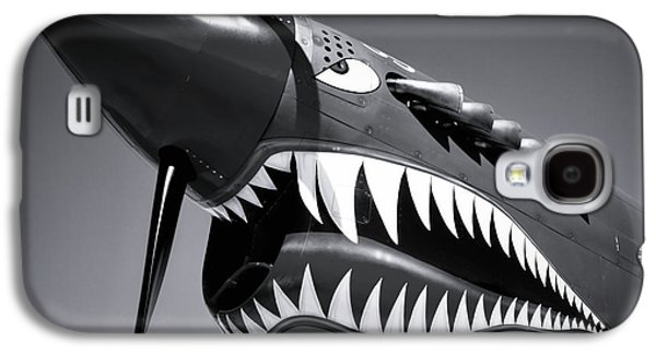 Flying Tiger Plane Black And White Galaxy S4 Case