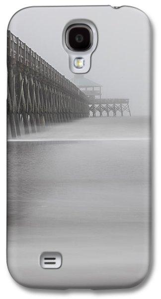 Foggy Folly Beach Pier Galaxy S4 Case by John McGraw
