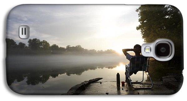 Foggy Riverside Landscape At Sunset Galaxy S4 Case by Gillham Studios