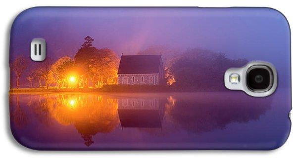 Foggy St. Finbarrs Oratory, Gougane Barra, Cork Galaxy S4 Case by Philip Mulhall