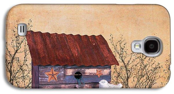 Folk Art Birdhouse Still Life Galaxy S4 Case by Tom Mc Nemar