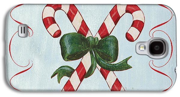 Folk Candy Cane Galaxy S4 Case by Debbie DeWitt