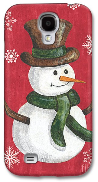 Folk Snowman Galaxy S4 Case by Debbie DeWitt