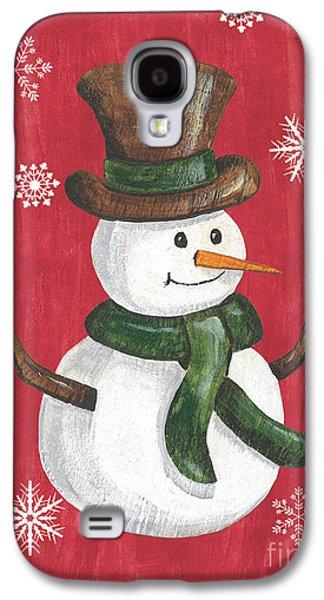 Folk Snowman Galaxy S4 Case