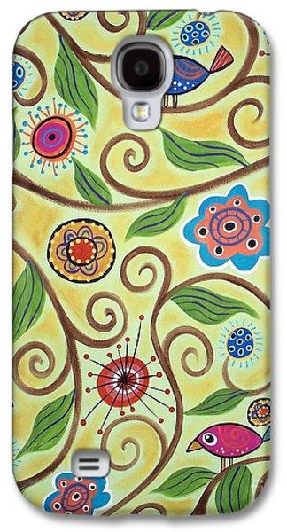 Folksy Branch Birds Galaxy S4 Case by Karla Gerard