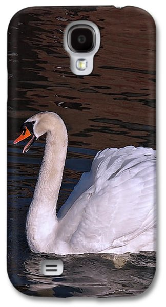 Follow Me - Pair Of Mute Swans - Wings Up Galaxy S4 Case by Gill Billington