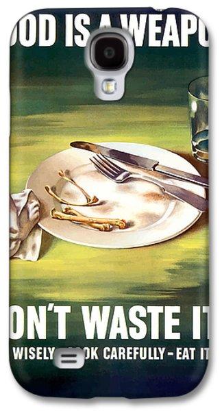 Food Is A Weapon -- Ww2 Propaganda Galaxy S4 Case by War Is Hell Store