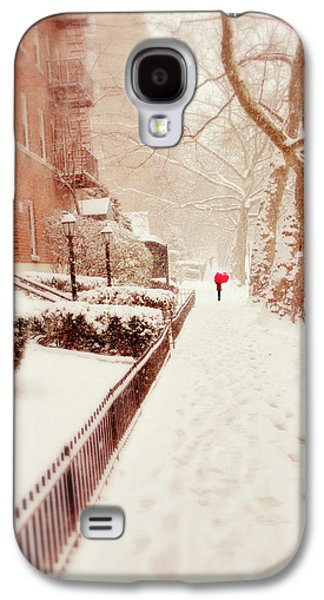 Galaxy S4 Case featuring the photograph The Red Umbrella by Jessica Jenney