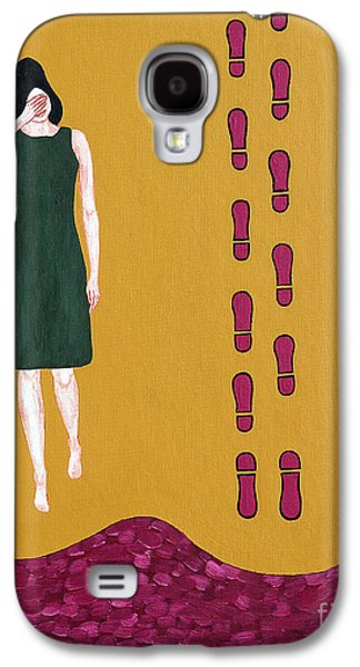 Footsteps In The Sand Galaxy S4 Case