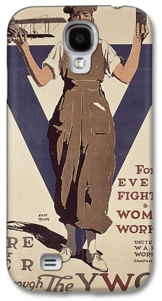 For Every Fighter A Woman Worker Galaxy S4 Case by Adolph Treidler