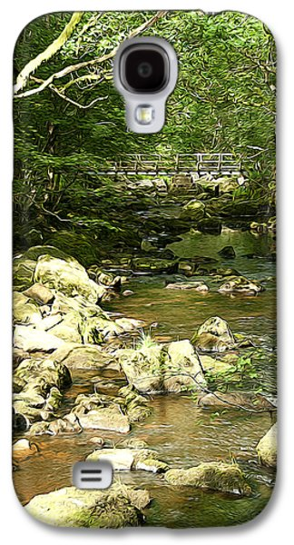 Surreal Landscape Galaxy S4 Cases - Forest Bridge Galaxy S4 Case by Svetlana Sewell