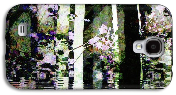 Forest For The Trees Flooded / Watercolor Galaxy S4 Case by Elizabeth McTaggart