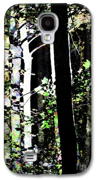 Forest For The Trees / Watercolor / Vertical  Galaxy S4 Case by Elizabeth McTaggart
