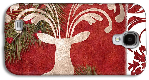 Forest Holiday Christmas Deer Galaxy S4 Case by Mindy Sommers