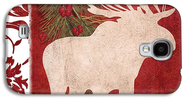 Forest Holiday Christmas Moose Galaxy S4 Case by Mindy Sommers