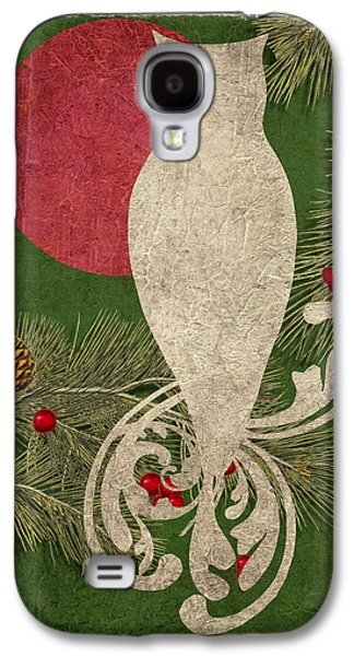 Forest Holiday Christmas Owl Galaxy S4 Case