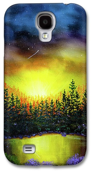 Forest Lake In Twilight Galaxy S4 Case by Laura Iverson