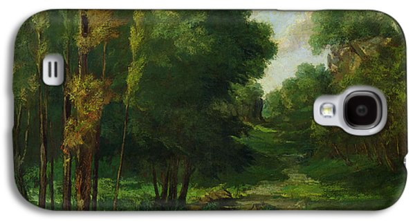 Forest Landscape Galaxy S4 Case by Gustave Courbet