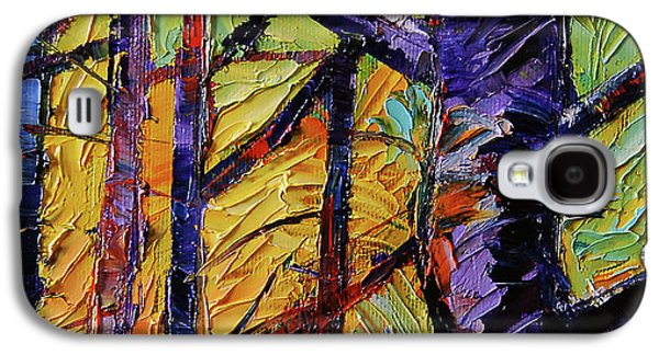 Forest Layers 2 - Modern Impressionist Palette Knives Oil Painting Galaxy S4 Case by Mona Edulesco