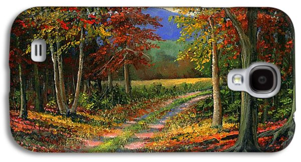 Country Paintings Galaxy S4 Cases - Forgotten Road Galaxy S4 Case by Frank Wilson