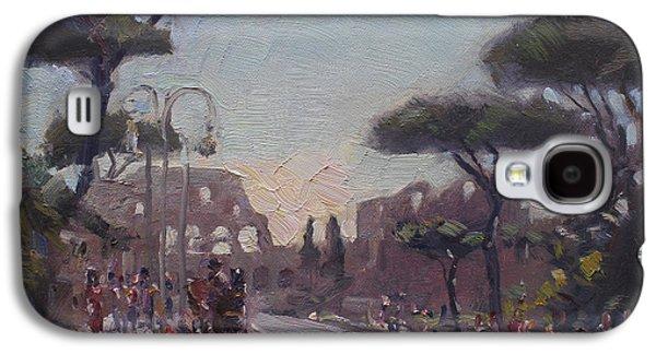 Fori Romani - Street To Colosseo Galaxy S4 Case by Ylli Haruni