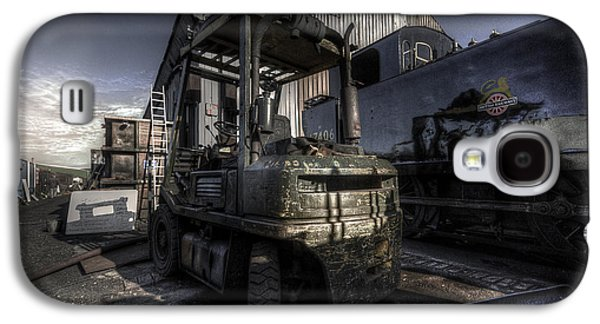 Tractor Prints Galaxy S4 Cases - Forklift Galaxy S4 Case by Yhun Suarez