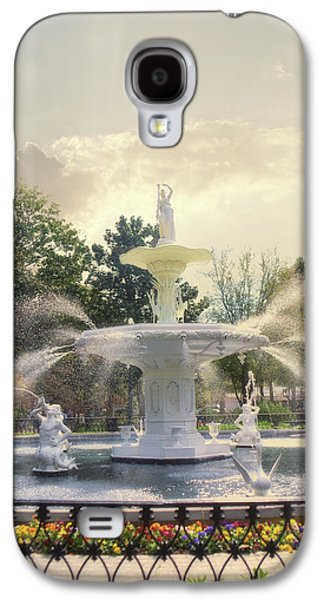 Forsyth Park Fountain - Savannah Galaxy S4 Case by Paulette B Wright