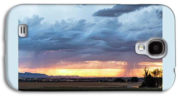 Fort Collins Colorado Sunset Lightning Storm Galaxy S4 Case