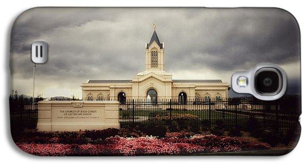 Fort Collins Lds Temple East Side Galaxy S4 Case by David Zinkand