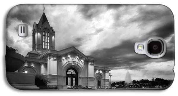 Fort Collins Lds Temple Se Corner Bw Galaxy S4 Case by David Zinkand