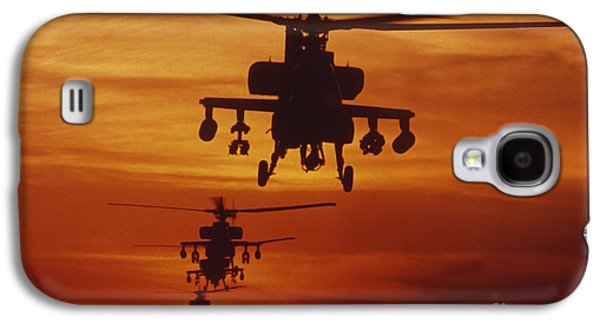 Helicopter Galaxy S4 Case - Four Ah-64 Apache Anti-armor by Stocktrek Images