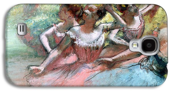 Four Ballerinas On The Stage Galaxy S4 Case by Edgar Degas