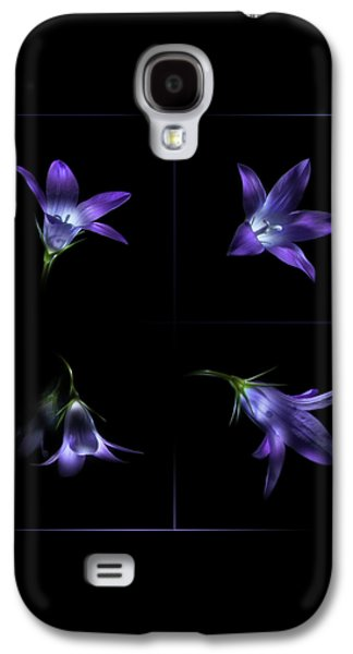Four Bluebell Flowers - Light Painting Galaxy S4 Case by Alexey Kljatov