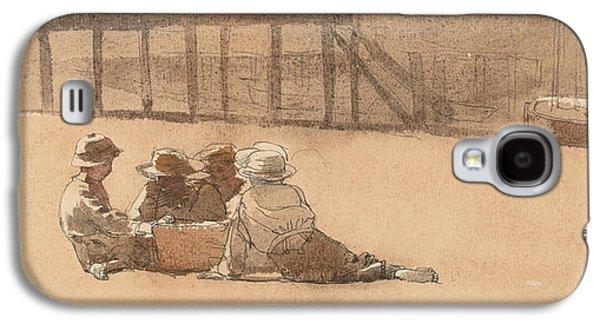 Four Boys On A Beach Galaxy S4 Case