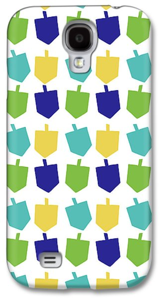 Four Dreidels Pattern- Art By Linda Woods Galaxy S4 Case by Linda Woods