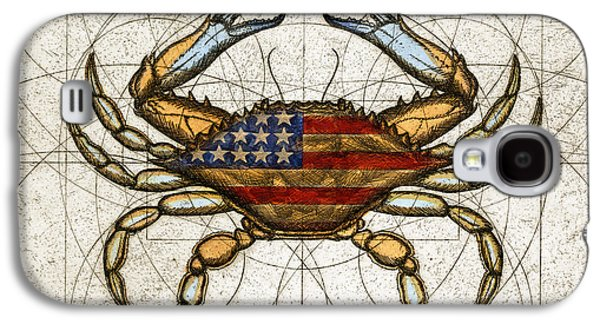 Fourth Of July Crab Galaxy S4 Case by Charles Harden