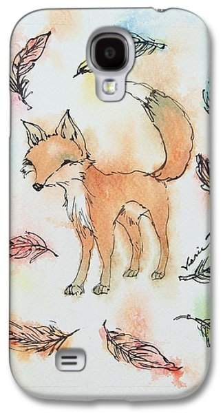 Fox And Feathers Galaxy S4 Case