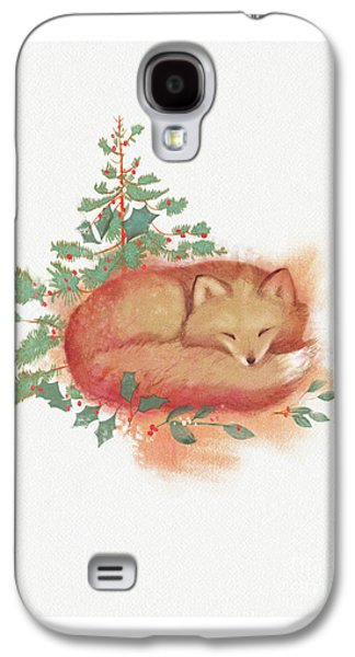 Fox And Holly Galaxy S4 Case by Tracy Herrmann
