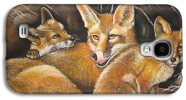 Fox And Kits Galaxy S4 Case by Maryamsadat Shakeri