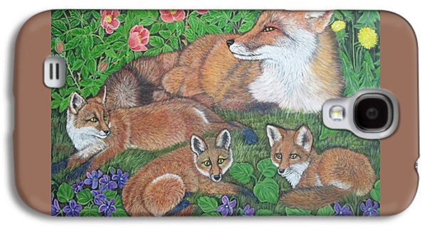 Fox And Kits Galaxy S4 Case by Sofya Mikeworth