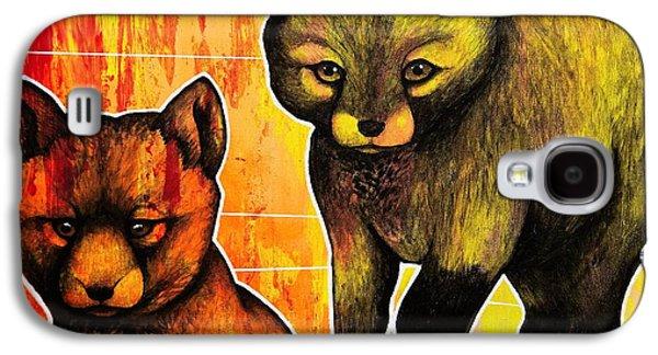 Fox Kits Galaxy S4 Case by Dan Gee