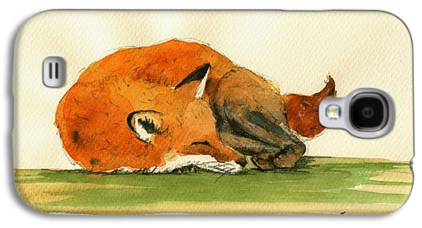 Fox Sleeping Painting Galaxy S4 Case