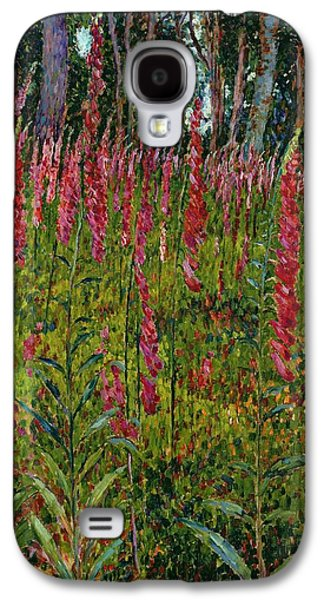 Foxgloves Galaxy S4 Case by Georges Lacombe