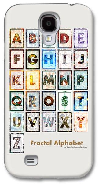 Fractal - Alphabet Galaxy S4 Case by Anastasiya Malakhova