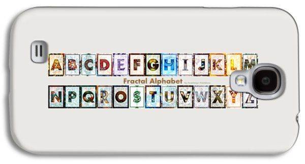 Fractal - Alphabet - Banner Galaxy S4 Case